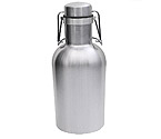 Kegco GR32-SS Beer Growler - 32 oz Single Wall Stainless Steel Flip Top