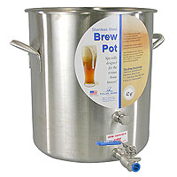 10.5 Gallon Stainless Steel Brew Pot