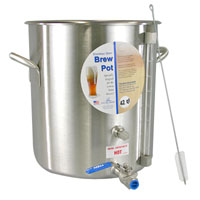10.5 Gallon Stainless Steel Brew Pot with Site Gauge