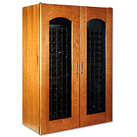Le Cache Contemporary Series Model 3800 458-Bottle Wine Storage Cabinet in Provincial Cherry Finish