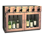 WineKeeper 3X3-O2RN- Napa 6 Bottle Wine Dispenser Preservation Unit - Oak
