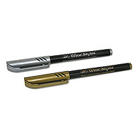 Wine Bottle Stylus - Gold & Silver