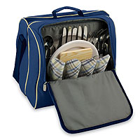 Solano Insulated Coolor with Service for 2 - Navy