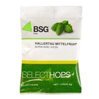 Hallertau Mittelfruh Hop Pellets - 1 oz Bag