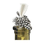 Pewter Grapes Bottle Candle w/ Wick