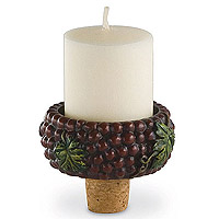 Grapevine Votive Holder & Bottle Stopper