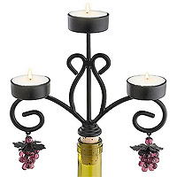 Chateau Wine Bottle Candelabra