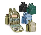 Sorrento Insulated Picnic Backpack for 4 w/Wine Duffel - Hunter Green