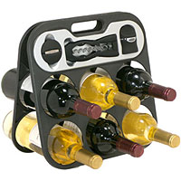 The Wine Bar 6 Bottle Wine Rack