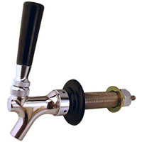 Stainless Beer Faucet Shank Combo