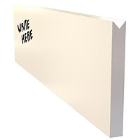 Dry Erase Menu Wall Board Plank - White