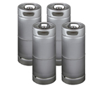 Four Kegco brand new 5 Gallon Commercial Kegs - Drop-In D System Valve