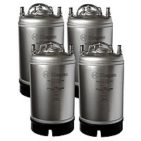 Coffee Kegs - Ball Lock 3 Gallon Strap Handle - Brand New - Set of 4