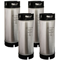 Coffee Kegs - Ball Lock 5 Gallon Rubber Top - Brand New - Set of 4