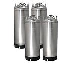 Kegco 5 Gallon Ball Lock Keg - Strap Handle - Set of 4
