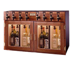 WineKeeper 4x4-M2RN - Napa 8 Bottle 4 Red 4 White Wine Dispenser Preservation Unit - Mahogany