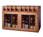 WineKeeper 4X4-O2RN- Napa 8 Bottle Wine Dispenser Preservation Unit - Oak