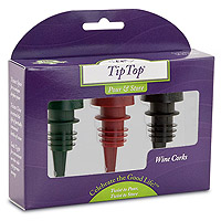 Tiptop® Reusable Wine Cork 3-Pack