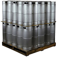 Pallet of 50 Kegs - 5 Gallon Commercial Keg with Drop-In D System Sankey Valve