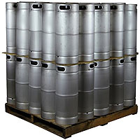 Pallet of 50 Kegs - 5 Gallon Commercial Keg with Micromatic Drop-In D System Sankey Valve