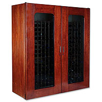Le Cache Contemporary Series Model 5200 622-Bottle Wine Cabinet - Classic Cherry Finish