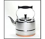 BonJour 53087 2 Quart Stainless Steel Teakettle with Copper Bottom