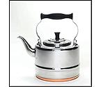 BonJour 53087 2 Quart Stainless Steel Teakettle with Copper Bottom
