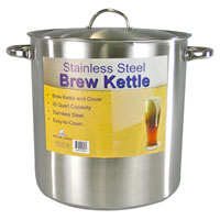 30 Qt. Economy Stainless Steel Brew Kettle with Cover