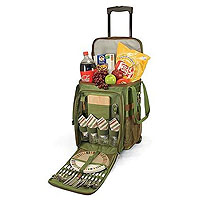 Avalanche Picnic Cooler on Wheels - Pine Green