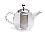 BonJour 53840 Round Glass Teapot with Shut Off Infuser - 34 oz.