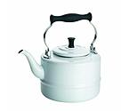 BonJour 53869 Porcelain Teakettle, Vintage Design, White - 2 Qt.