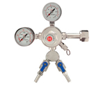 Kegco 542-2 - Premium Pro Series Double Gauge Kegerator Regulator w/ Two Product Out