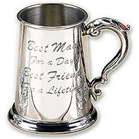 Best Man Pewter Beer Tankard