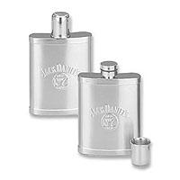 7 Ounce Satin Flask with Shot Cap - 7 oz.