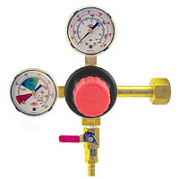 Primary High Pressure Double Gauge Mixed Gas Regulator