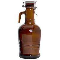 2 Liter Glass Handle Growler