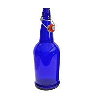 EZ Cap 500ml Flip-Top Home Brew Beer Bottles - Blue (Case of 12)