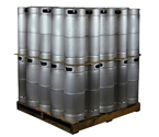 Pallet of 50 Kegco brand new 5 Gallon Commercial Kegs - Threaded D System Sankey Valve
