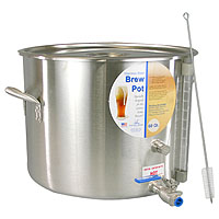 60 Qt. Stainless Steel Brew Pot with Site Gauge