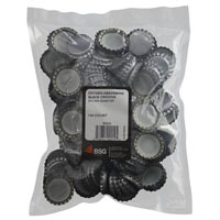 Oxygen Absorbing Black Beer Bottle Crowns (144 Count)