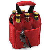 Insulated Six Pack - Red