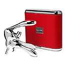 Metrokane 6095 VIP Rabbit Lever-Style Wine Opener - Red Leather