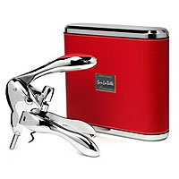 VIP Rabbit Lever-Style Wine Opener - Red Leather