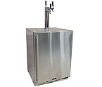 Marvel 60HK-SS-B-LR-X3HB Outdoor Kegerator Cabinet with BeverageFactory.com X-CLUSIVE 3 Faucet Home Brew Keg Tapping Kit