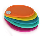 Metrokane Rabbit Coasters - Set of 6 Assorted Colors