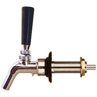 Chrome Beer Faucet with Brass Lever