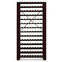 126-Bottle Swedish Pine Wine Rack in Mahogany Finish