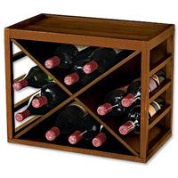 12 Bottle X Cube Stack Wine Rack