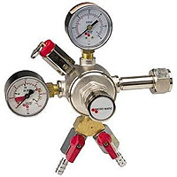 Premium Dual Gauge Co2 Keg Beer Regulator with Air Splitter