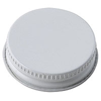 38mm White Metal Screw Caps - 100 Count